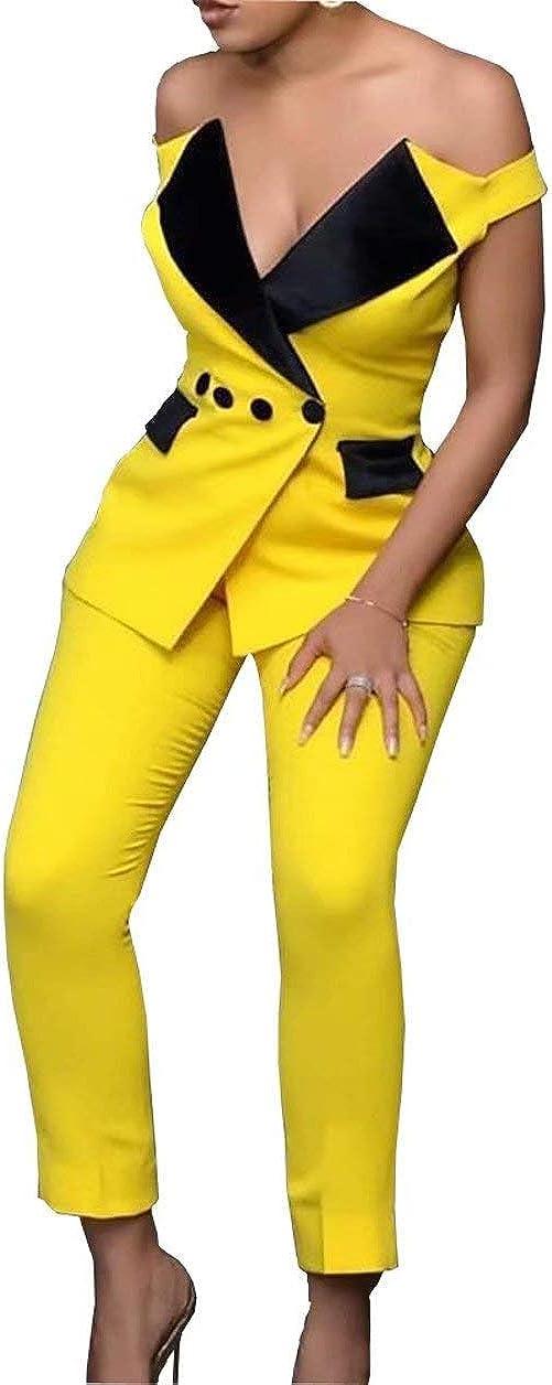 Off Shoulder Pant Suit Cocktail for Women Party Formal Evening Dresses Jumpsuits 2021