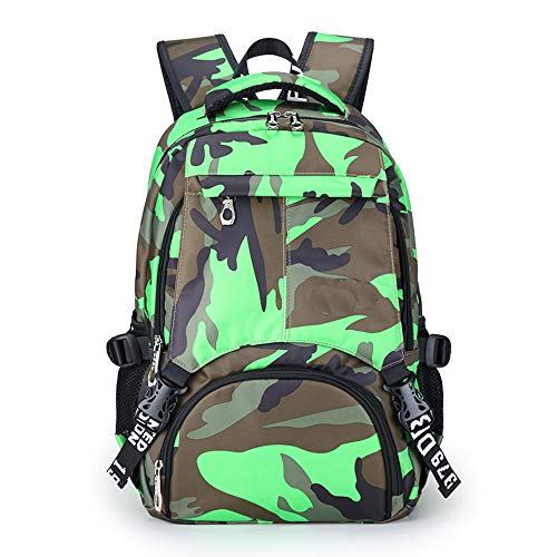 Mochila al aire libre, camuflaje impermeable Oxford mochila bolsa de viaje bolsa de estudiante