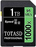 Tarjeta de memoria de 1 TB SD de 1024 GB SDXC, tarjeta de memoria UHS-II, tarjeta de memoria SD, memoria de memoria U3, velocidad de hasta 95 MB/s(1024 GB)