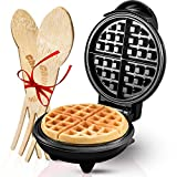Burgess Brothers Mini Waffle Maker | Portable Electric Non-Stick Waffle Iron | Belgian Waffle Maker Makes 4 Inch Waffles | Includes Bamboo Sporks