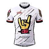 Thriller Rider Sports® Herren Rock Music White Sport & Freizeit MTB Fahrradbekleidung Radtrikot 2X-Large