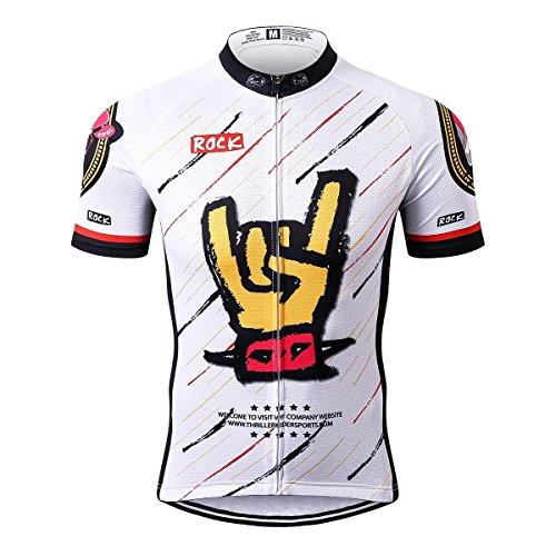 Thriller Rider Sports Uomo Rock Music White Sport e Tempo Libero Abbigliamento Ciclismo Magliette Manica Corta Large