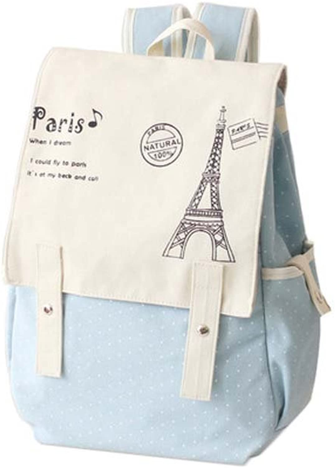 f0d5572cfa492 Fashion Student Bag Casual Canvas Backpack Fresh Backpack_A17 Small ...
