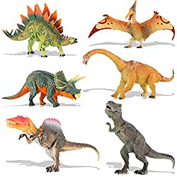3. QuadPro Jumbo Dinosaur Action Figures Set (6 pieces)