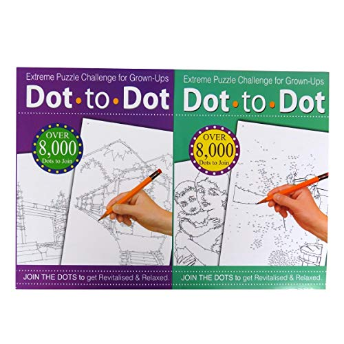 Punkt-zu-Punkt-Malbuch, Extremes Rätsel-Zeichenheft, Herausforderung für Erwachsene, verschiedene Farben (englische Version)