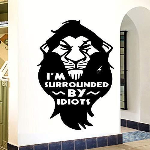 hetingyue leeuw Ich Bin omgeven van tekst muursticker woonkamer decoratie slaapkamer muur kunst vinyl sticker