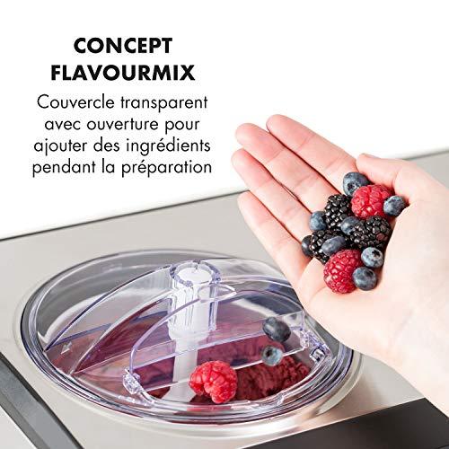 Klarstein Dolce Bacio - Machine à crème glacée, Sorbetière à compresseur, Glaces, sorbets,...