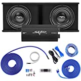 Skar Audio Dual 12' Complete 2,400 Watt SDR Series Subwoofer Bass Package - Includes Loaded Enclosure with Amplifier