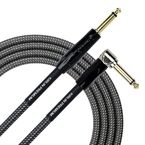 KIRLIN Cable IWB-202BFGL-10/CA 10-Feet Premium Plus Instrument Cable, Carbon Gray Woven Jacket