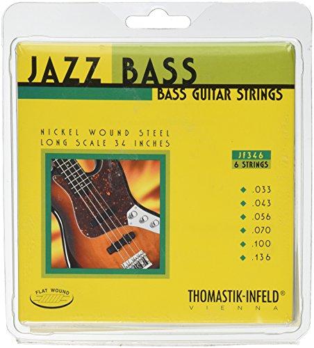 Thomastik Cuerdas para Bajo Eléctrico Jazz Bass Serie niquel entorchado plano juego...