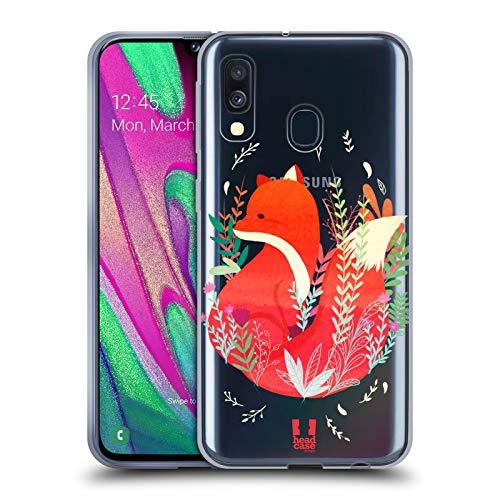 Head Hülle Designs Fuchs Tiere des Waldes Soft Gel Handyhülle Hülle Huelle & Passende Designer Hintergr&bilder kompatibel mit Samsung Galaxy A40 (2019)