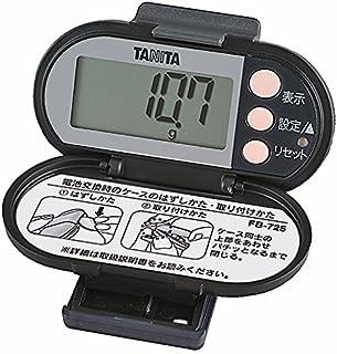タニタ(TANITA) 脂肪燃焼量付き歩数計 ブラック FB-725-BK