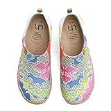 UIN Scarpe Ginnastica Scarpe Espadrillas per Donna Casual Slip on Mocassini Sneakers Basse Colorate in Tela Dipinta a Mano 41