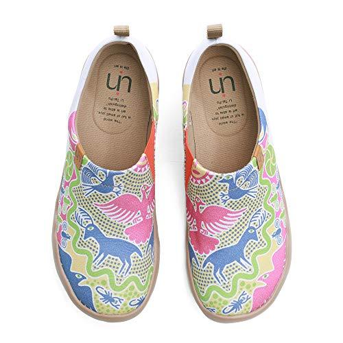 UIN Damen Segelschuhe Canvas Sneaker, Modell Orientalisches Märchenland, Gedruckt Reise Slip On Unisex Schuhe 40