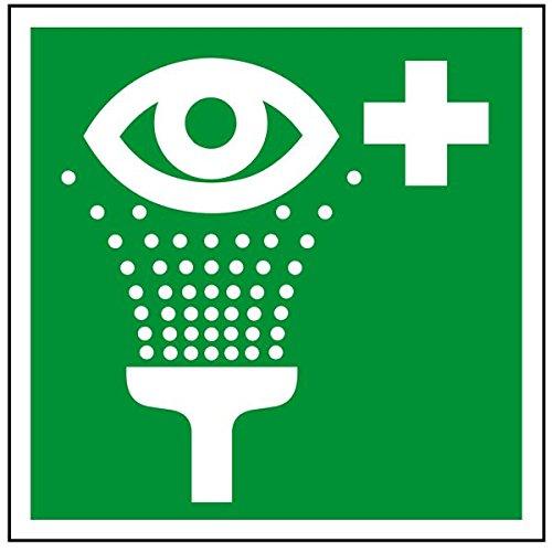 LEMAX® Aufkleber Augenspüleinrichtung gemäß ASR A1.3/ DIN 7010, Folie selbstklebend 200x200mm (Augenspülung, Erste Hilfe Schild) praxisbewährt, wetterfest