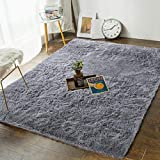 Product Image of the Andecor Soft Fluffy Bedroom Rugs - 4 x 6 Feet Indoor Shaggy Plush Area Rug for...