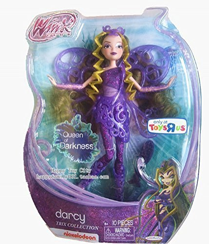 Winx Club Trix Collection Darcy Queen of Darkness Modepuppe, Puppe, ca. 29cm USA