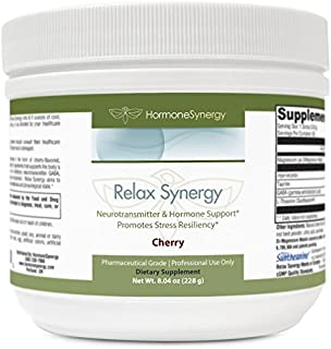 Relax Synergy   Natural Cherry Flavor *NO MSG*   Myo-Inositol 2000 mg. 75 mg of Magnesium (as Di-Magnesium Malate), GABA, Taurine, L-Theanine, Hormone and Neurotransmitter support