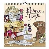 Dekorativer Wandkalender 2020, praktischer Monatsplaner zum Aufhängen mit Motiven, 12 Monatsseiten mit extra viel Platz zum Termine eintragen