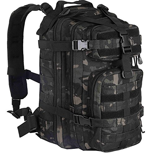 WolfWarriorX Small 30L Military Tactical Assault Backpack Hiking Bag Extreme Water Resistant Small Rucksack Molle Bag for Traveling, Camping, Trekking & Hiking