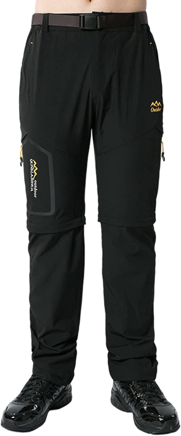 Mens Cargo Trousers Fashion Large Size Quick-Drying Detachable Shorts Casual