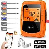 Te-Rich Wireless Grillthermometer Smart Küchenthermometer Fleischthermometer Bratenthermometer Kochthermometer für Ofen