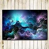 N / A Cartel de Lienzo de Gran tamaño impresión de Arte Nube Abstracta Colorida luz Pintura al óleo Sala de Estar Pintura Mural sin Marco 40cmX50cm