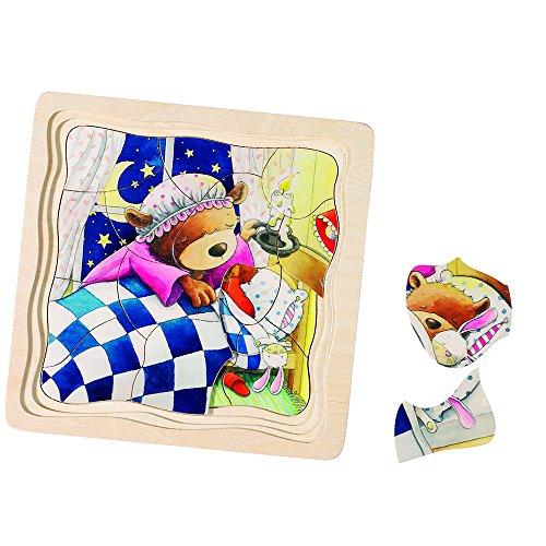 Puzzle avec couches d'un petit ours
