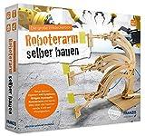 FRANZIS young Explorer Die große Entdeckerbox: Roboterarm selber bauen | Holz-Bausatz für voll funktionsfähigen Hydraulik-Roboterarm | Ab 10 Jahren