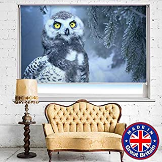 SNOW OWL IN FOREST Printed Picture Blackout/Translucent Photo Roller Blind - Custom Made Window Blind/Shade