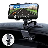 GESMATEK Support de Téléphone Voiture Rotation à 360 degrés, pour Tableau de Bord, Compatible avec GPS et Les téléphones Portables de 4,0 à 7,0 Pouces. Noir