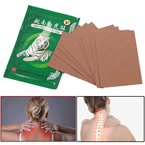8 Stück HELLOYOUNG Weißer Tigerbalsam Chinesische Kräuter Medizinische Pflaster für Gelenkrücken Nacken Heilpflaster Knieschützer für Arthritis Salben