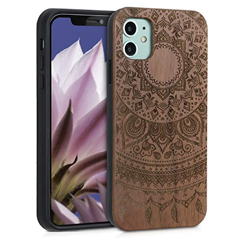 kwmobile Coque en bois compatible avec Apple iPhone 11 Motif ...