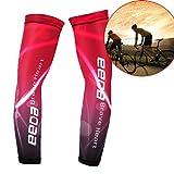 Armlinge Fahrrad Bike Wear Running Wear Arm Sleeve Anti-UV mit Polyester und Nylon für Sport Unisex Elastic Rot M