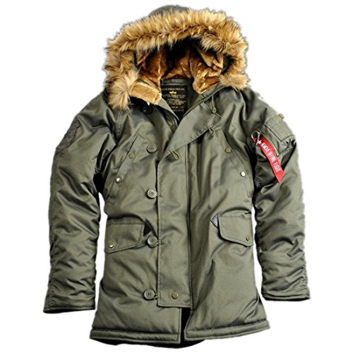 ALPHA INDUSTRIES Explorer Winterparka (div. Farben) (L, Dark Green)