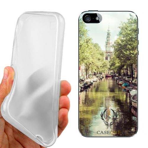 Custodia Cover Case Summer Amsterdam per iPhone 5 5G 5S
