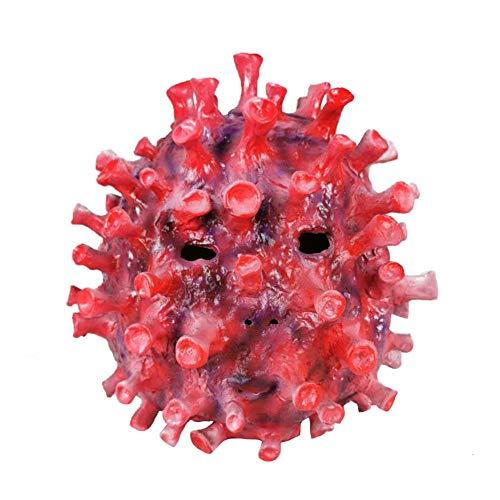 wcflyp Halloween Virus Maschera Coronavirus Morbido Orrore Unisex Cosplay Festa Costume Mardi Gras per Adulti Uomo Donna (C)
