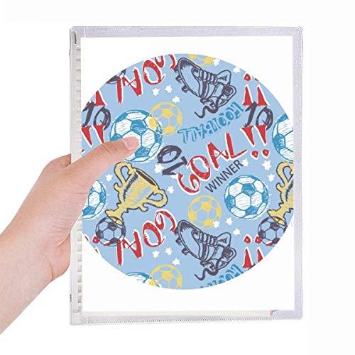 Toral Soccer Football Sport Winner Notebook Loose-leaf Spiral Refillable Journal