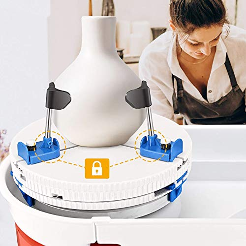 InLoveArts Clip De Réparation De Roue De Poterie Pince de table tournante pour machine à poterie Plateau tournant de roue de poterie Outil de réparation pour machines à poterie