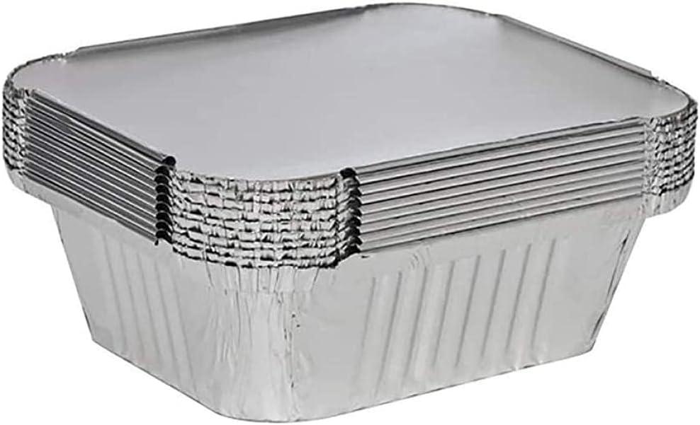 LILAODA Cartón de la Lata de Hornear 50 x Francia de Plata Bandejas de Alimentos/Platos/recipientes Tapa para Hornear Barbacoa Endotérmica Cartón de la Lata