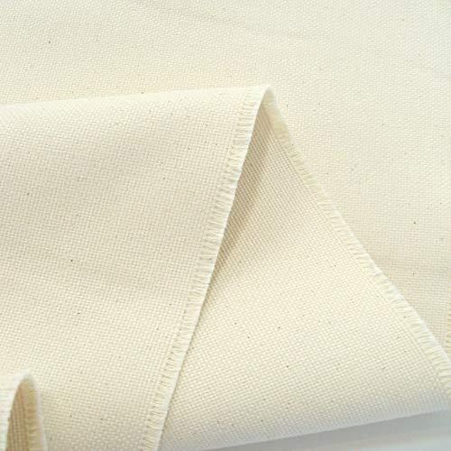 TOLKO Baumwollstoffe   naturbelassener Canvas-Stoff aus Roh-Baumwolle   robuster Polsterstoff/Bezugsstoff   Baumwoll-Segeltuch zum Polstern Beziehen   1,5mm dick Meterware (Breite: 150 cm   schwer)