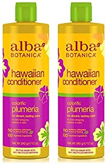 Hawaiian Conditioner Colorific Plumeria (Pack of 2) With Sunflower, Jojoba, Aloe Vera, Pineapple, Papaya, Ginger, Soy, Moluccana and Macadamia Seed, 12 oz. each