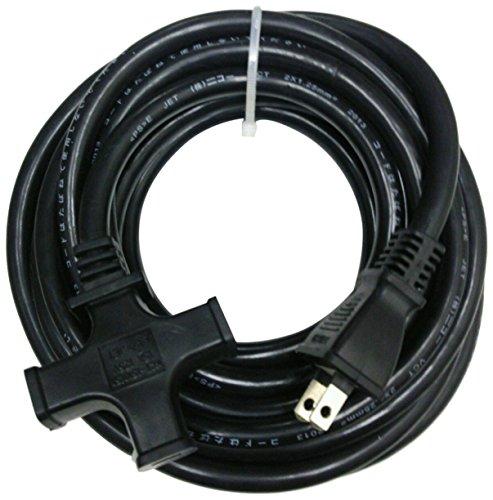 NICOH(ニコー)ソフト延長コード 15A 5mコード 3個口(ブラック)