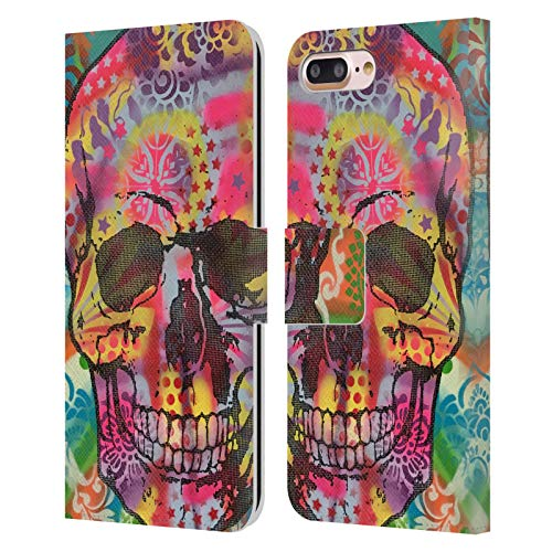 Head Case Designs Oficial Dean Russo Calavera 1UP Cultura Pop 2 Carcasa de Cuero Tipo Libro Compatible con Apple iPhone 7 Plus/iPhone 8 Plus