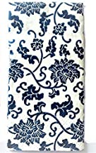Blue and White Flowered Napkins Small Pack of 20