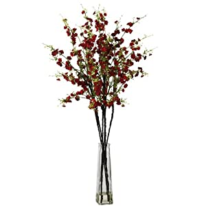 Nearly Natural Nearly Natural 1193 Cherry Blossoms with Vase Silk Flower Arrangement 1
