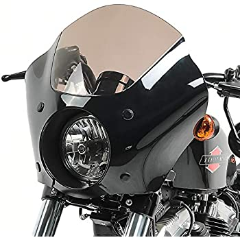 Lampenmaske MG4 f/ür Harley Dyna Street Bob 06-17 Lampen Verkleidung rauchgrau