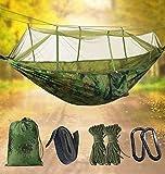 Idefair Amaca con zanzariera, Doppia Amaca da Campeggio Bug Net Impermeabile Portatile e Leggero per Zaino in Spalla Escursionismo Viaggi all'aperto