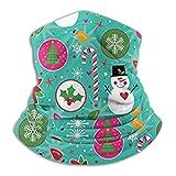 Linger In Navidad muñeco de Nieve Cuello Polaina Calentador de Cuello Decoraciones faciales pañuelo Sombreros