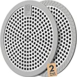 Shower Drain Hair Catcher / Bathtub Drain Cover/Drain Protector/Stainless Steel+Silicone/for Bathroom & Kitchen(2pack/4.5inch/Grey+Grey)